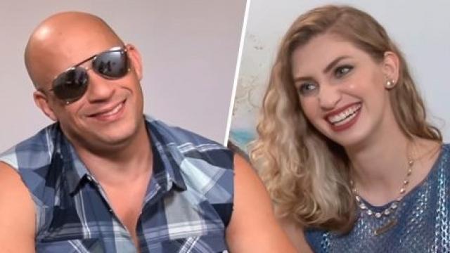 Vin Diesel, el reconocido actor de Rápidos y Furiosos, no pudo terminar una entrevista por que la reportera era muy sexy